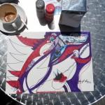 La Signora che beve il cappuccino in Darwin - 2013